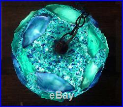 Vintage 1970's Disco Globe Hanging Light Rare Plastic Retro Cool Funky Lamp