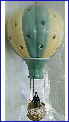 Vintage 1983 Ceramic Hot Air Balloon Hanging Night Light Lamp, Childrens Nursery