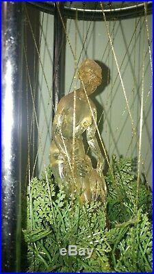 Vintage 27 Rain Oil Hanging Lamp Greek Goddes Lucite Clear Unusual