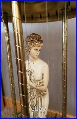 Vintage 30 Hanging Oil Motion Rain Lamp Nude Lady Greek Goddess Retro 1970s