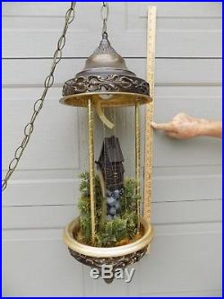 Vintage 34 Hanging Swag Creators OLD GRIST MILL Motion Mineral Oil Rain Lamp