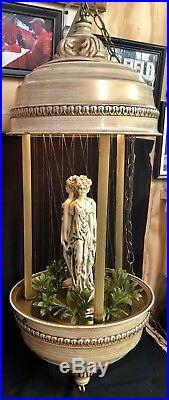 Vintage 36 Creative Inc 3 Goddess Hanging Oil Rain String Lamp Nude Ladies RARE