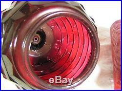 Vintage 3 Globe Red tinted Swag Hanging light lamp