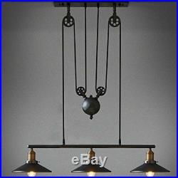 Vintage 3 Heads Chandelier Pendant Hanging Lamp Ceiling Fixture Lighting