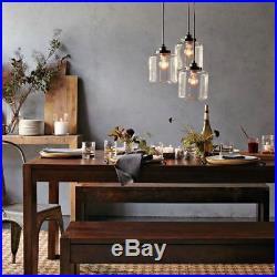 Vintage 3 Lights Glass Pendant Light Chandelier Dining Room Hanging Lamp Fixture