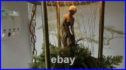 Vintage 60's Oil Rain Hanging Light Lamp withVenus Statue Works Greek Goddess RARE
