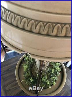 Vintage 60s 70s 3 Goddess Large 36 Hanging Swag Rain Oil Lamp Works Great