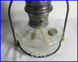 Vintage Aladdin Lamps Clear Glass Font Hanging Lamp with frame