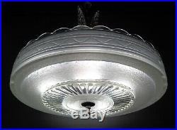 Vintage Antique Art Deco Hanging Lamp Ceiling Light Circa 1920's 30's Chandelier
