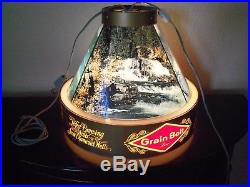 Vintage Antique Grain Belt Beer Hanging Light Lamp Works 13 x 15 Co Springs
