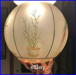 Vintage Art Deco Hanging Ceiling Light Fixture Ceiling Lamp Glass Chandelier