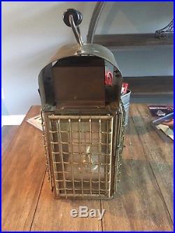 Vintage Brass Nautical 15 Hanging Oil Lamp Lantern Chelsea Maritime Ltd
