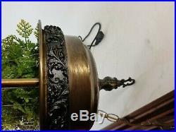 Vintage Brass Rain Oil Swag Lamp 1970's Hanging 31 Goddess Rope Chain 34-8598