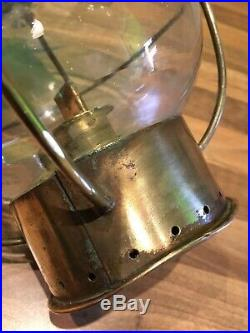 Vintage Brass Ships Hanging Onion Oil Lamp Light Maritime Maritime Boat