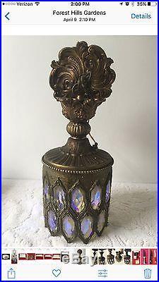 Vintage Bronze Crystal Hanging Ceiling Lamp Chandelier Swag Lantern