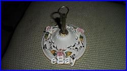 Vintage Capodimonte Porcelain Hanging lamp light Fixture Marked inside