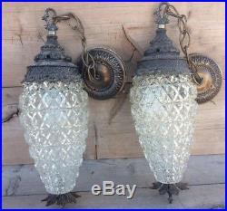 Vintage Carson Lighting Inc Art Deco Hanging Lamps Two