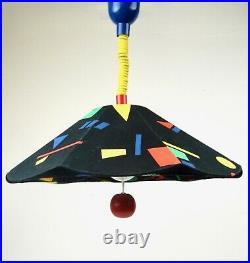 Vintage Colorful Postmodern Memphis Age Hanging Ceiling Lamp Pendant 80s