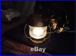 Vintage Copper Nautical Anchor Hanging Wall / Porch Jelly Jar Light Lamp on/off