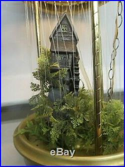 Vintage Creations Old grist Mill Hanging Rain Mineral Oil Lamp 38