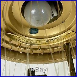 Vintage Creators Inc. Grist Mill Hanging Mineral Oil Rain Lamp 1970's 36 x 12