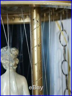 Vintage Creators Inc. Hanging 30 Oil Rain Lamp Goddess Cream & Gold