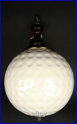 Vintage Dunning Industries Titleist 3 White Advertising Golf Globe Hanging Lamp