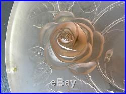 Vintage Elegant Pink Satin Glass Hanging Lamp Shade #787872 Rose J Jobling 1933