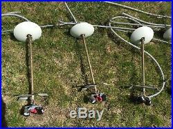 Vintage Globe Shade Lamp Lights Mood Mid Century LiteLab Retro MCM Hanging Light