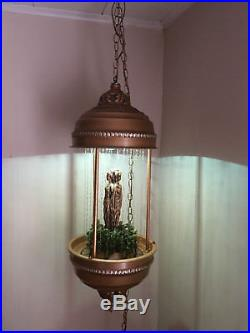 Vintage Goddess Hanging Mineral Oil Lamp, Excellent Working Condition, Metal