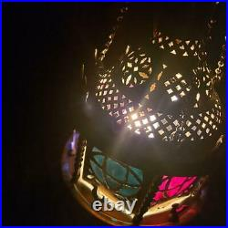 Vintage Gothic Antique Brass Swag Hanging Lamp Light Fixture Retro Medieval