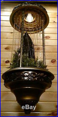 Vintage Grist Mill Hanging Oil Rain Lamp Moving Water Wheel Creators Inc Light