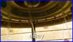 Vintage Grist Mill Hanging Oil Rain Lamp Moving Water Wheel Creators Inc Light