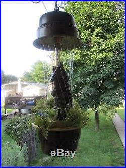Vintage Grist Mill Oil Rain Motion Lamp Moving Water Wheel Hanging Light Creator