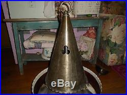 Vintage Hanging Light Gothic 4 Light Church Ceiling Chandelier Lamp Swag WOW