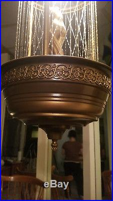 Vintage Hanging Mineral Oil Greek Goddess Rain Lamp