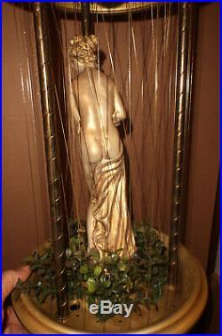 Vintage Hanging Mineral Oil Rain Lamp 30 Creators Nude Greek Goddess Diana #2