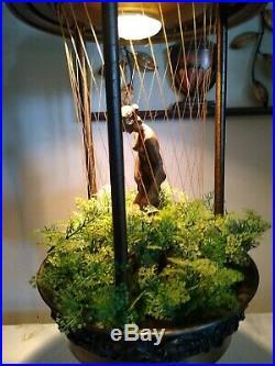 Vintage Hanging Mineral Oil Rain Lamp 30 Nude Greek Goddess Johnson Industries