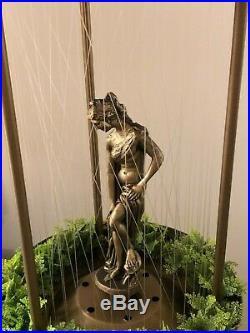 Vintage Hanging Mineral Oil Rain Lamp 36 Semi-Nude Goddess Johnson Ind