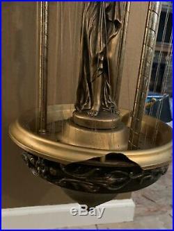 Vintage Hanging Mineral Oil Rain Lamp Creators Inc. 30 Nude Greek Goddesses