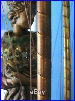 Vintage Hanging Mineral Oil Rain Lamp Nude Greek Goddess Lady