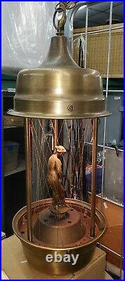 Vintage Hanging Mineral Oil Rain Motion Lamp Nude Grecian Goddess