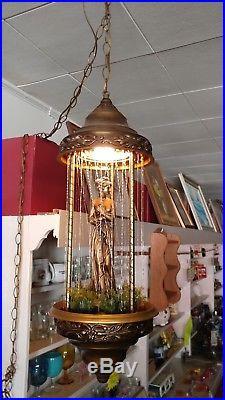 Vintage Hanging Mineral Oil Rain Motion Lamp Nude Greek Goddess Lady Works