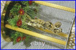 Vintage Hanging OIL RAIN LAMP Motion Light 18 Metal NEVER USED Greek Goddess