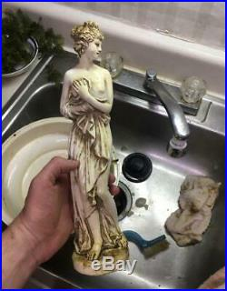 Vintage Hanging Oil Rain Lamp Light Goddess 32 inch needs pump