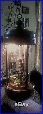 Vintage Hanging Oil Rain Lamp Light Nude Goddess Works