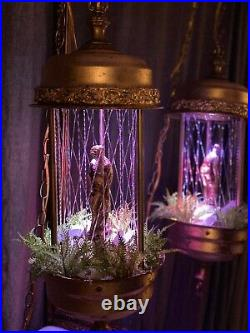 Vintage Hanging Oil Rain Lamp Motion Nude Lady Goddess 1970s (metal) 30