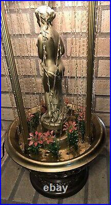 Vintage Hanging Or Table Top Oil Rain Lamp Motion Nude Lady Greek Goddess 1970s