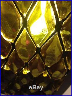 Vintage Hanging Swag Lamp Light Green Globe Mid Century Modern MCM WORKS