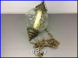 Vintage Hanging Swag Lamp With Defuser 9x9